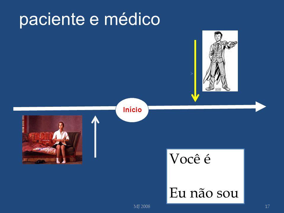 MJ 200817 Você é Eu não sou paciente e médico Início