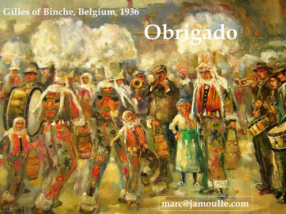 40 Gilles of Binche, Belgium, 1936 marc@jamoulle.com Obrigado MJ 2008