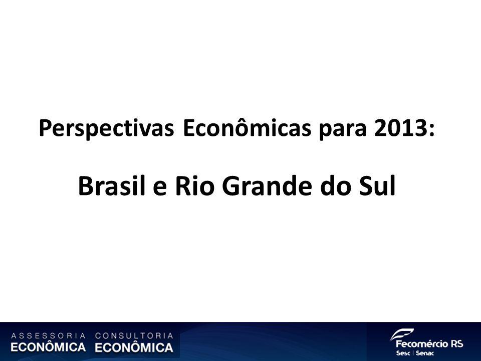 Perspectivas Econômicas para 2013: Brasil e Rio Grande do Sul