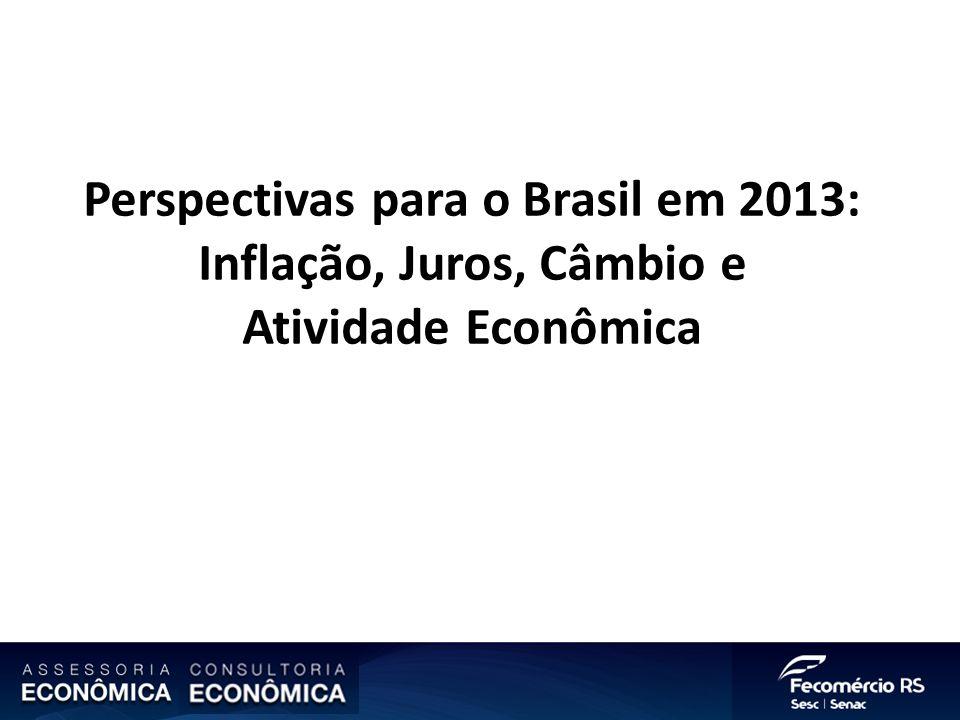 Perspectivas para o Brasil em 2013: Inflação, Juros, Câmbio e Atividade Econômica