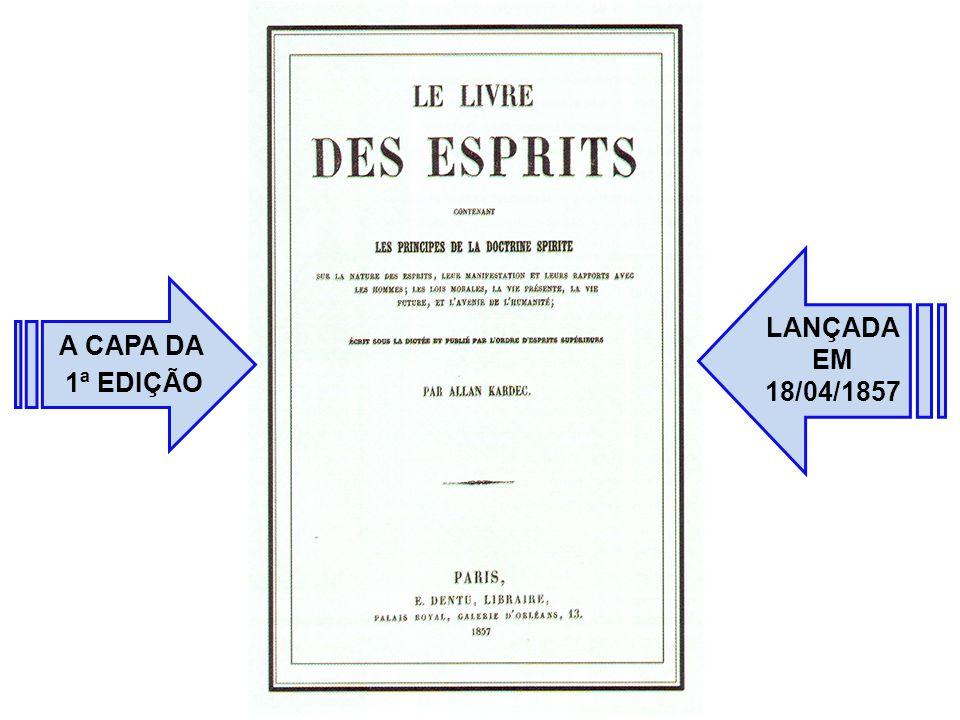 A CAPA DA 1ª EDIÇÃO LANÇADA EM 18/04/1857