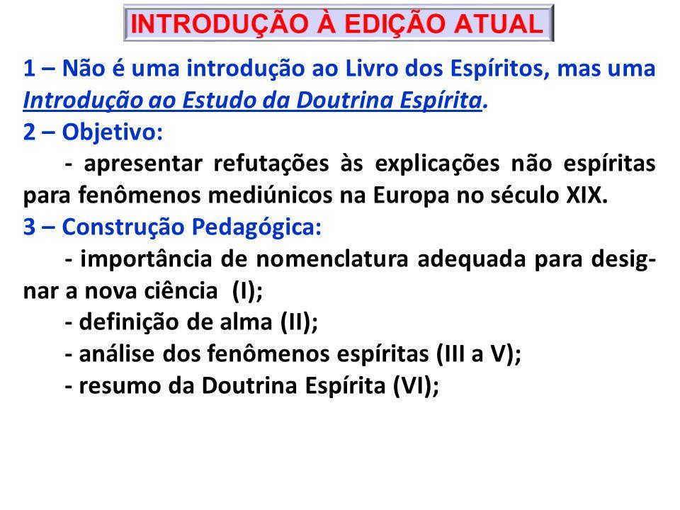 1 – Não é uma introdução ao Livro dos Espíritos, mas uma Introdução ao Estudo da Doutrina Espírita.