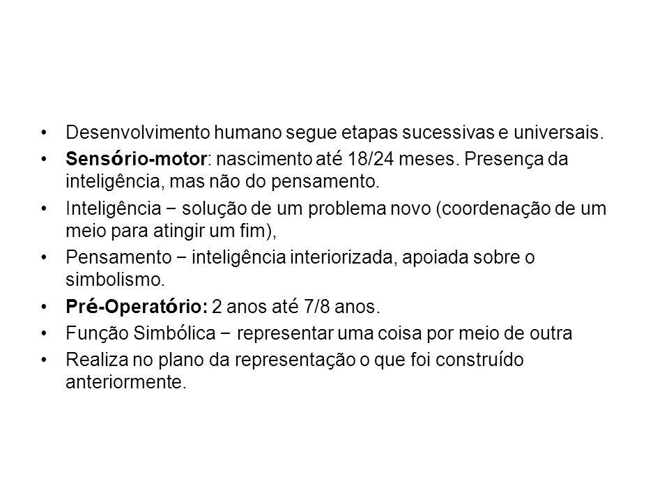 Opera ç ões Concretas: 7/8 anos at é 12/15 anos L ó gica dirigida a objetos manipul á veis.