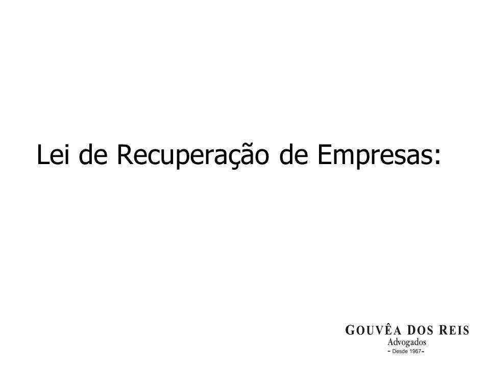 2 Lei de Recuperação de Empresas: