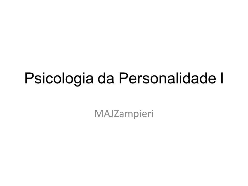 Psicologia da Personalidade I MAJZampieri