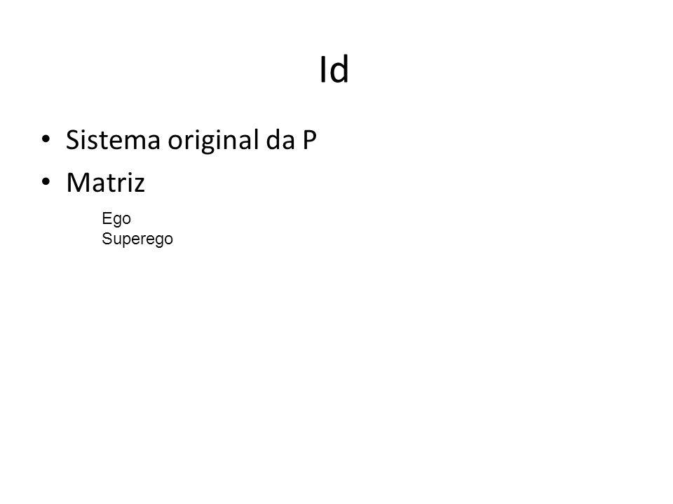 Id Sistema original da P Matriz Ego Superego