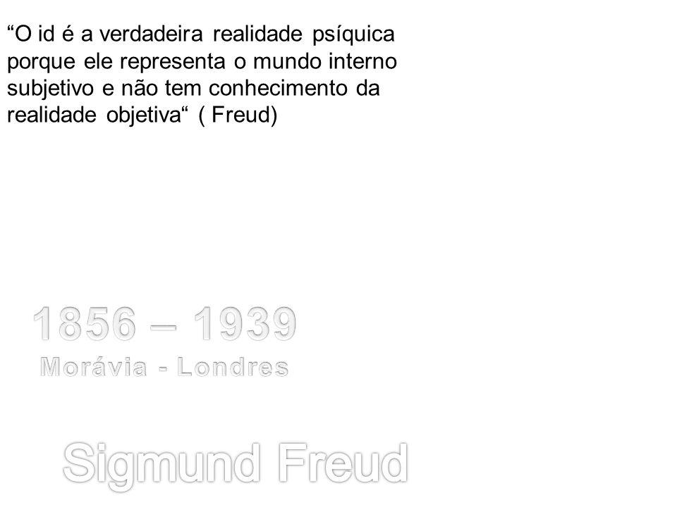 O id é a verdadeira realidade psíquica porque ele representa o mundo interno subjetivo e não tem conhecimento da realidade objetiva ( Freud)