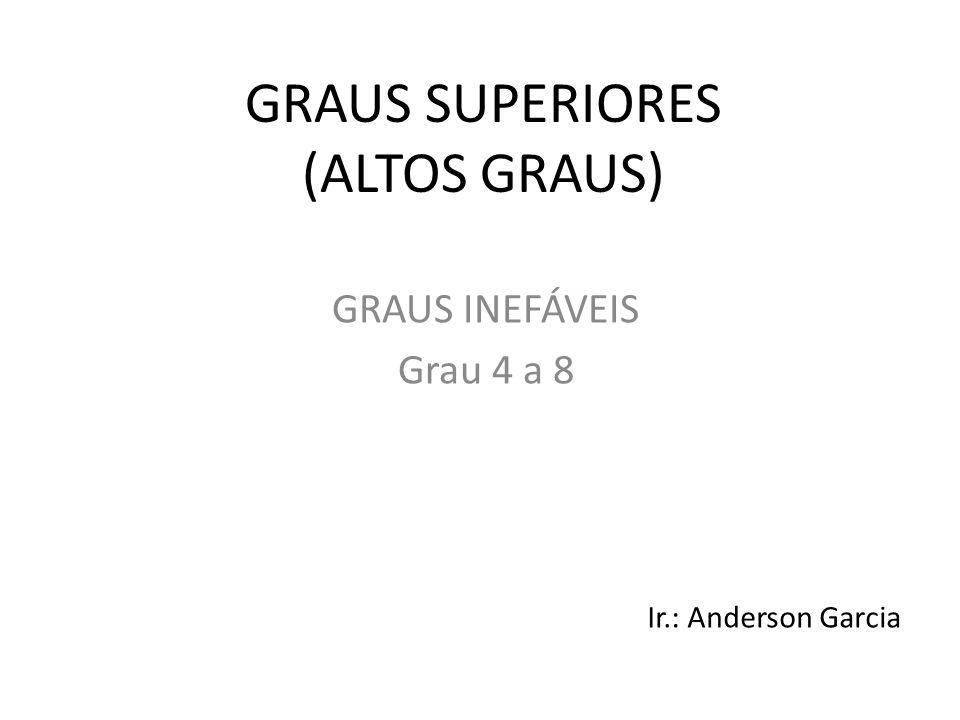 GRAUS SUPERIORES (ALTOS GRAUS) GRAUS INEFÁVEIS Grau 4 a 8 Ir.: Anderson Garcia