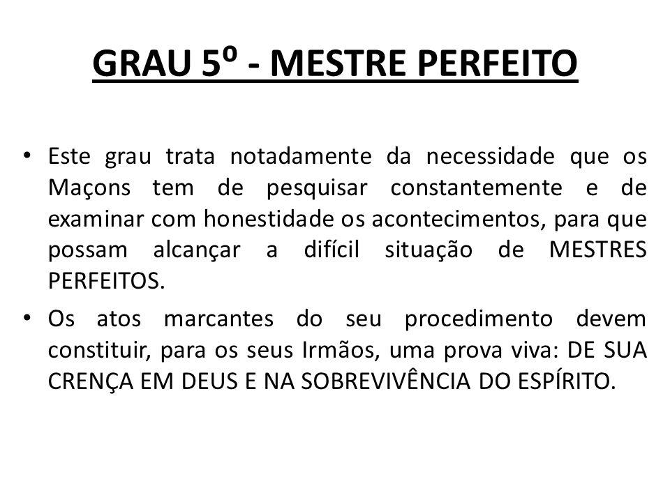 GRAU 6 - SECRETÁRIO ÍNTIMO Abertura: REIS I – CAP.