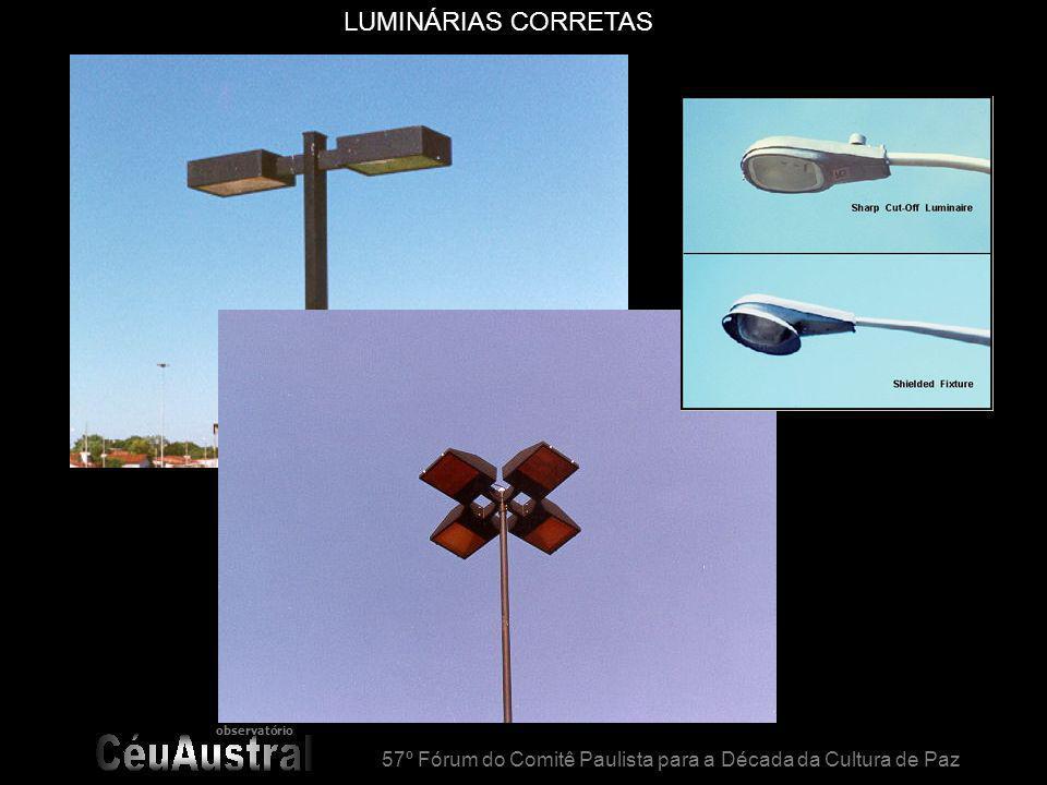 observatório 57º Fórum do Comitê Paulista para a Década da Cultura de Paz LUMINÁRIAS CORRETAS