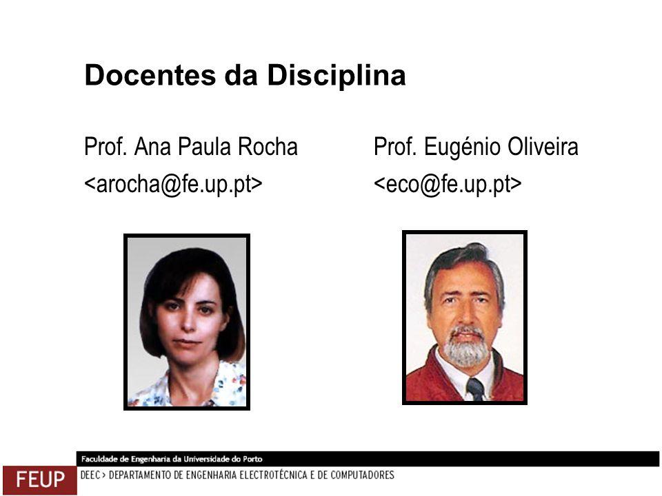 Docentes da Disciplina Prof. Ana Paula Rocha Prof. Eugénio Oliveira
