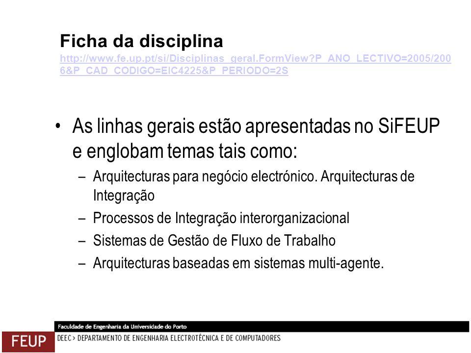 Ficha da disciplina http://www.fe.up.pt/si/Disciplinas_geral.FormView?P_ANO_LECTIVO=2005/200 6&P_CAD_CODIGO=EIC4225&P_PERIODO=2S http://www.fe.up.pt/s