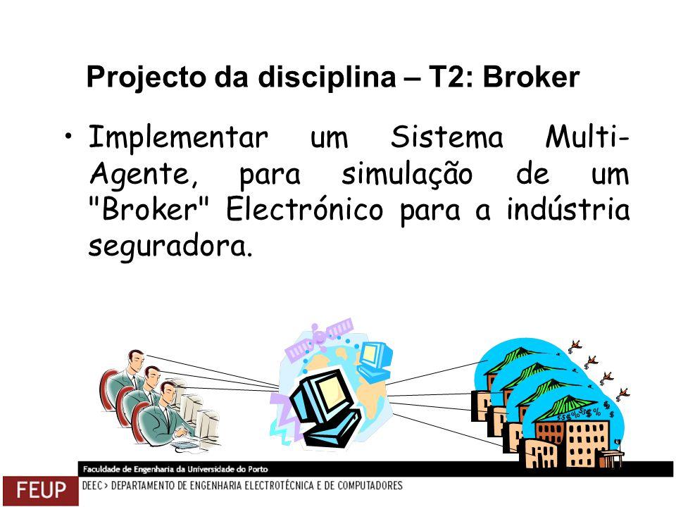 Projecto da disciplina – T2: Broker Implementar um Sistema Multi- Agente, para simulação de um