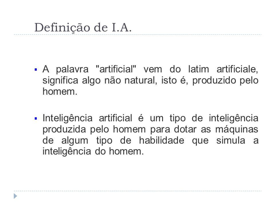 Definição de I.A.