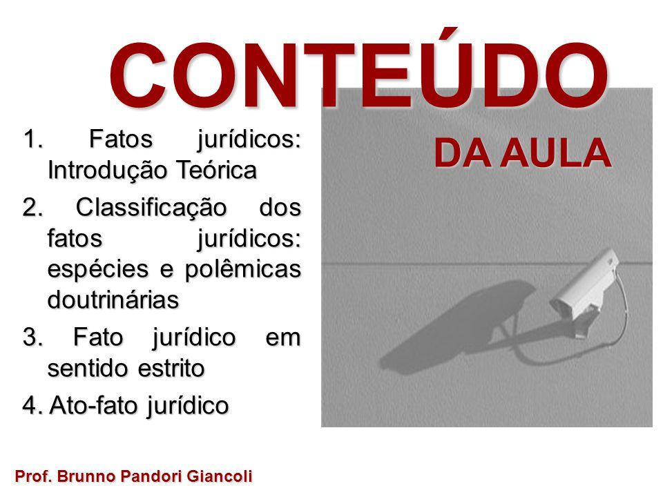 FATO JURÍDICO Qual é o seu Qual é o seusignificado? Prof. Brunno Pandori Giancoli