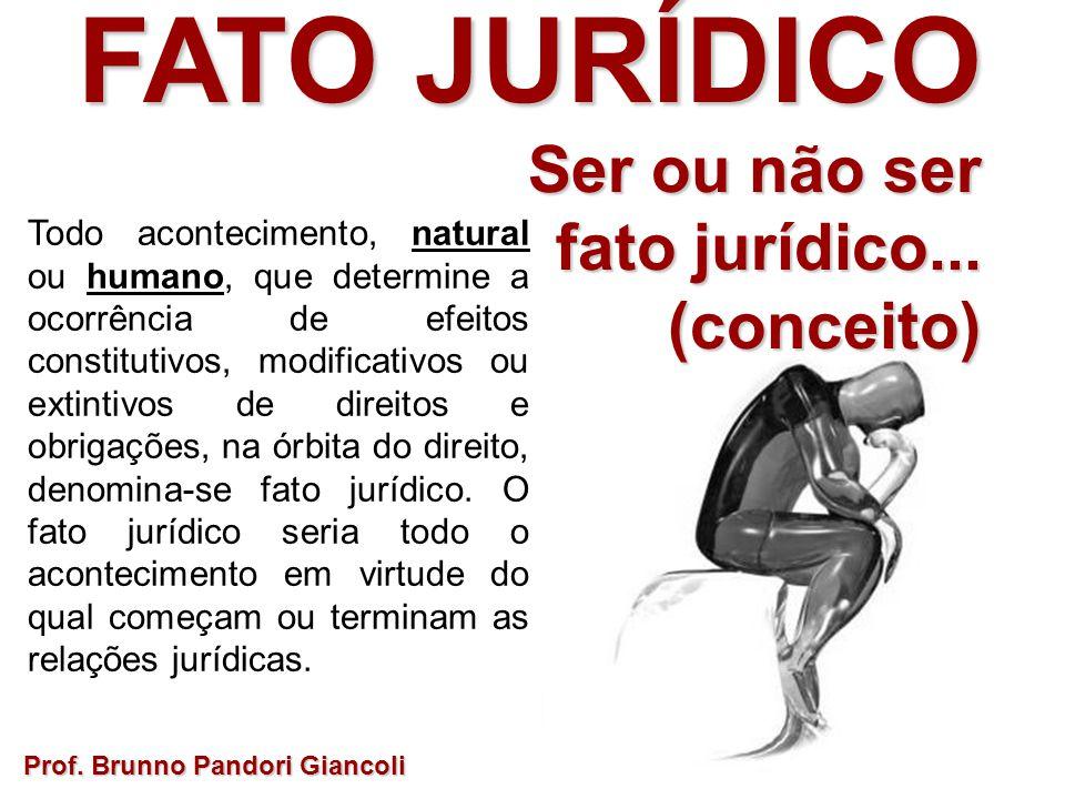 FATO JURÍDICO Ser ou não ser Ser ou não ser fato jurídico... (conceito) Todo acontecimento, natural ou humano, que determine a ocorrência de efeitos c