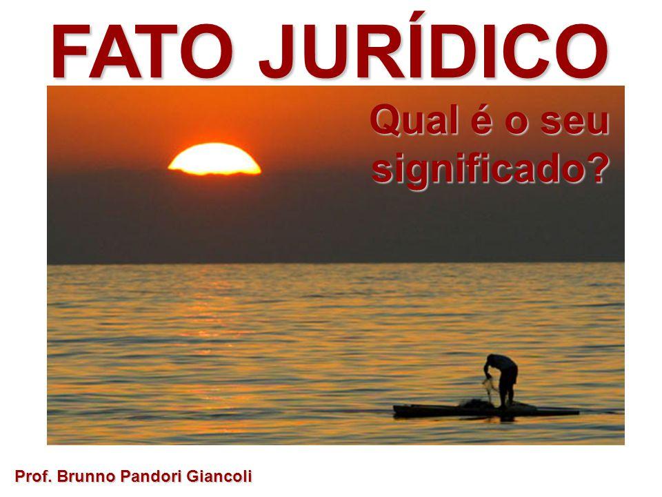 FATO JURÍDICO Categorias: Categorias:Conflitosdoutrinários... Prof. Brunno Pandori Giancoli