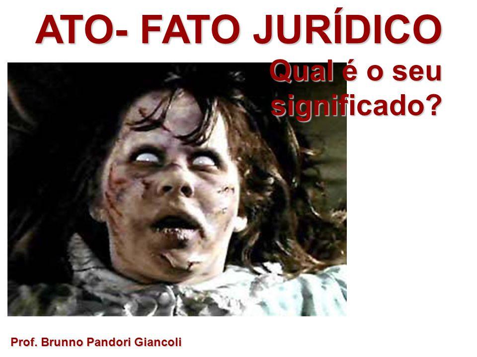 ATO- FATO JURÍDICO Qual é o seu Qual é o seusignificado? Prof. Brunno Pandori Giancoli
