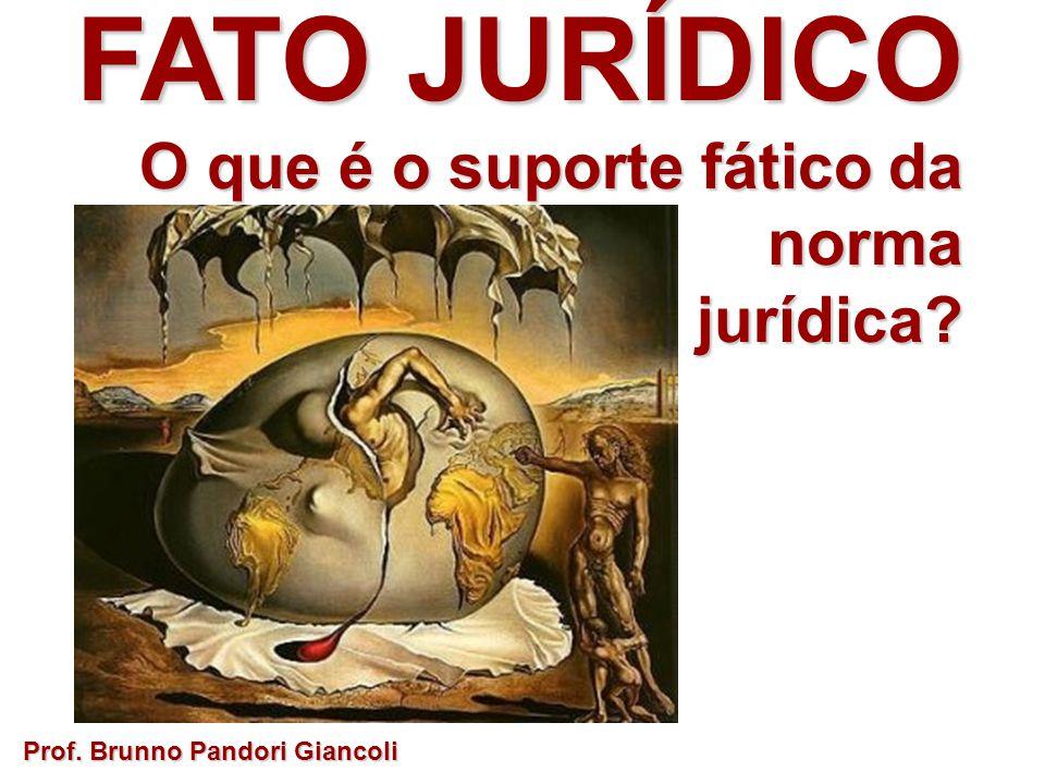 FATO JURÍDICO O que é o suporte fático da norma O que é o suporte fático da normajurídica? Prof. Brunno Pandori Giancoli