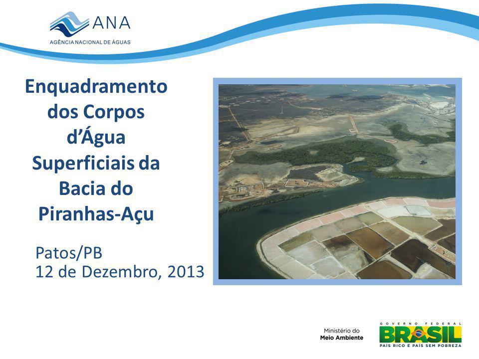 IMAGEM (Remover retângulo) Enquadramento dos Corpos dÁgua Superficiais da Bacia do Piranhas-Açu Patos/PB 12 de Dezembro, 2013