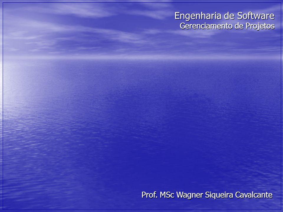 Engenharia de Software Gerenciamento de Projetos Prof. MSc Wagner Siqueira Cavalcante