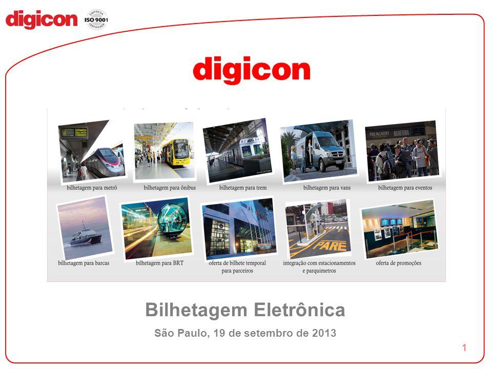 1 Bilhetagem Eletrônica São Paulo, 19 de setembro de 2013