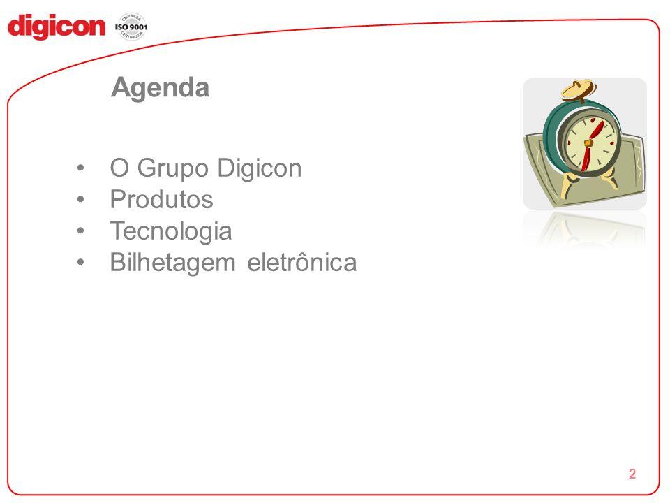 2 Agenda O Grupo Digicon Produtos Tecnologia Bilhetagem eletrônica