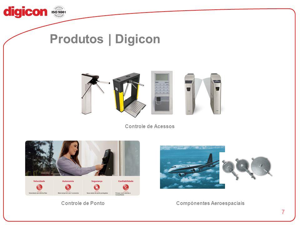 7 Produtos | Digicon Controle de Acessos Controle de PontoCompónentes Aeroespaciais