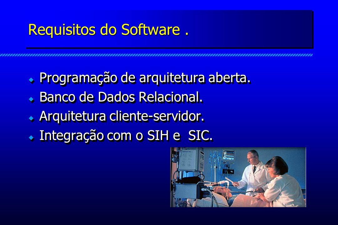 Requisitos do Software. Programação de arquitetura aberta.