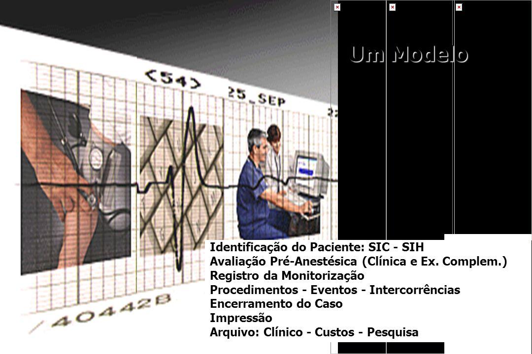 Um Modelo Identificação do Paciente: SIC - SIH Avaliação Pré-Anestésica (Clínica e Ex. Complem.) Registro da Monitorização Procedimentos - Eventos - I