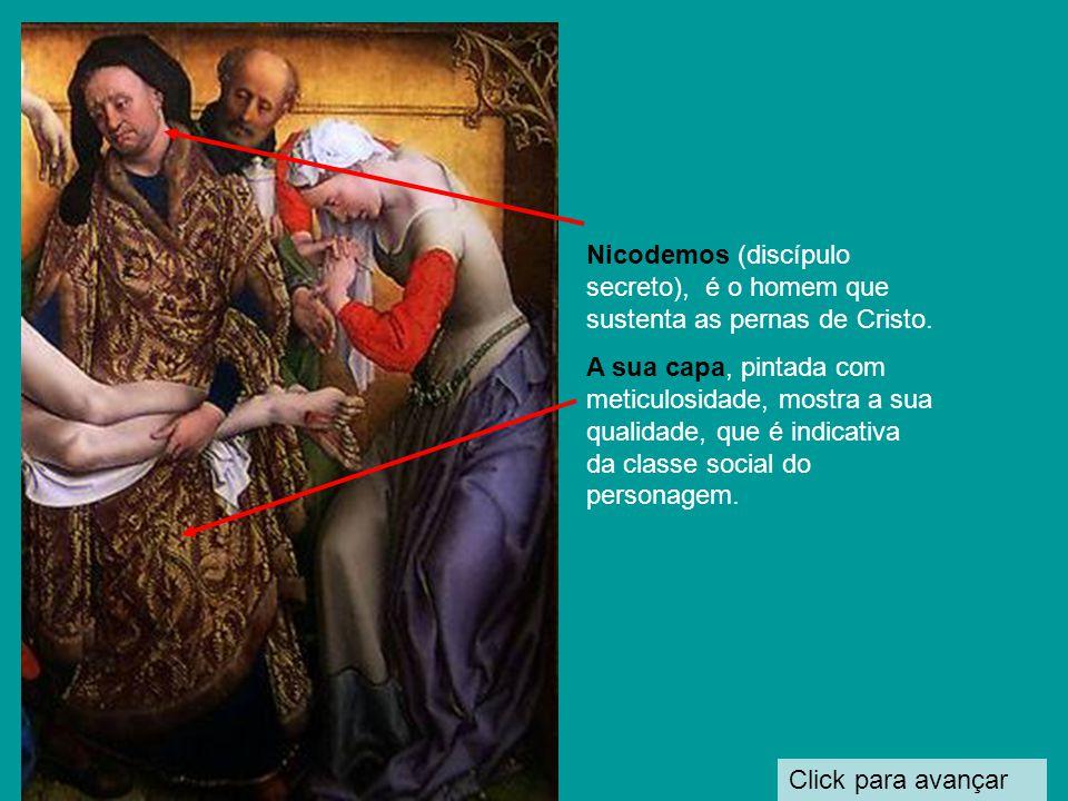 Click para avançar A Virgem Maria, exprime a dor pela morte de seu filho.