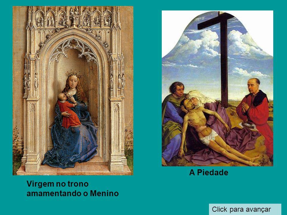 Click para avançar A Virgem com quatro Santos 1450 É o que se conhece como Sacra conversa