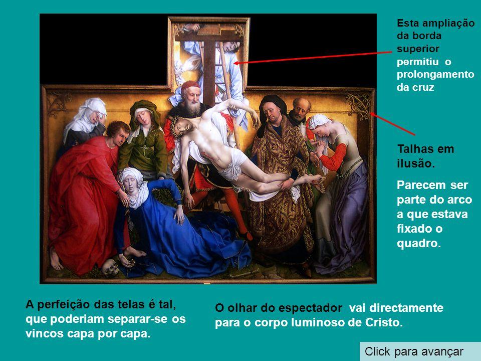 A Descida da cruz (1430-1435) Click para avanzar Pode-se considerar como a melhor obra de Rogier van der Weyden ou pelo menos a mais conhecida, cujo o