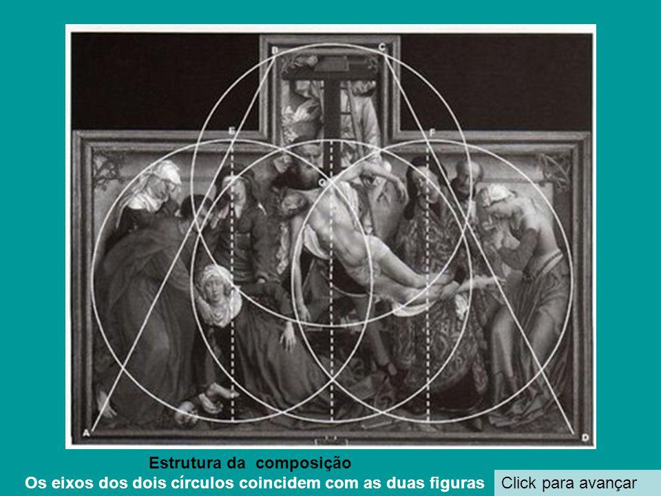 Click para avançar Estrutura da composição Os eixos dos dois círculos coincidem com as duas figuras
