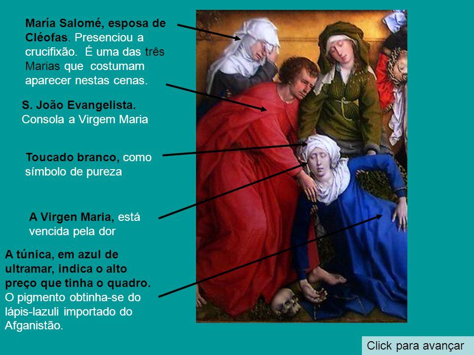 Click para avançar Virgem no trono amamentando o Menino A Piedade