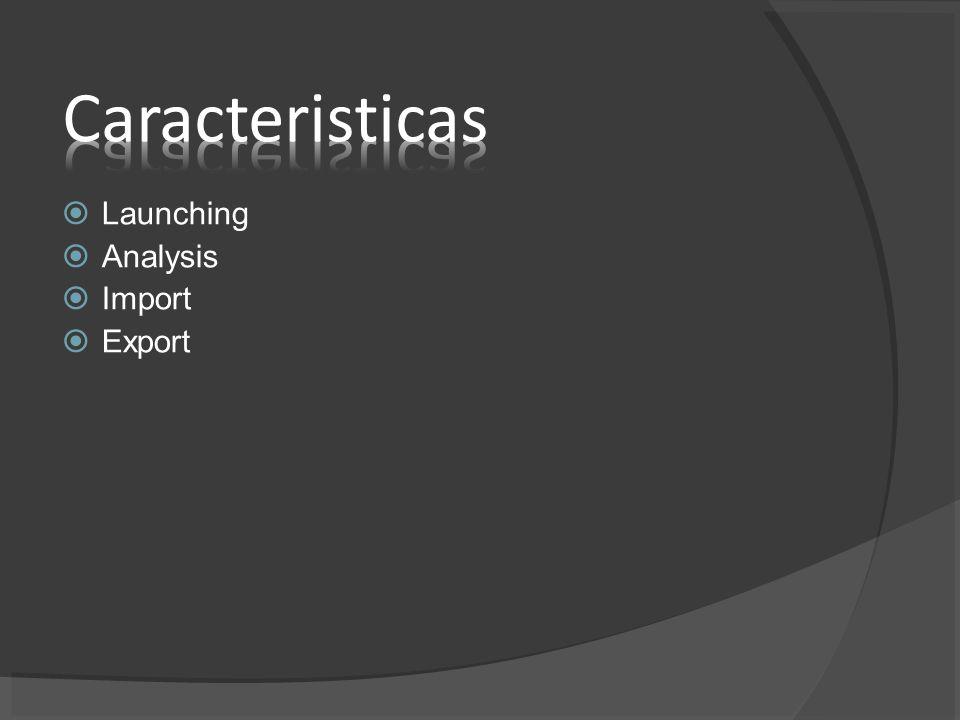 Launching Analysis Import Export