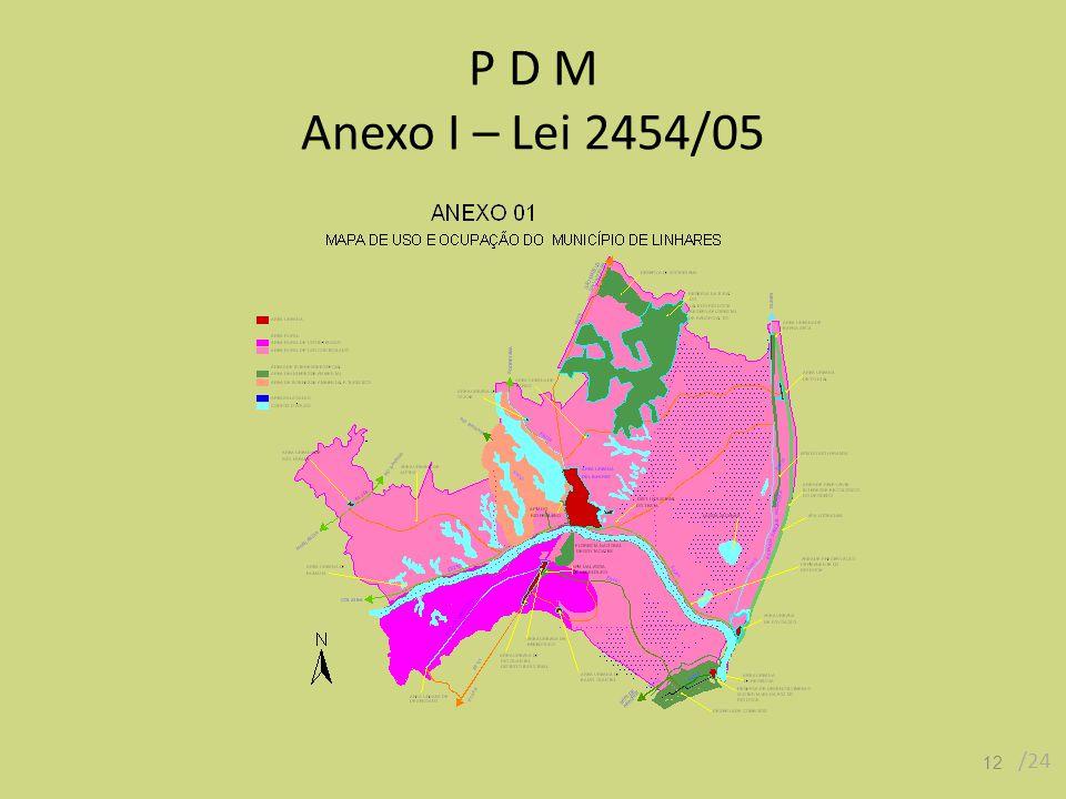 P D M Anexo I – Lei 2454/05 12 /24