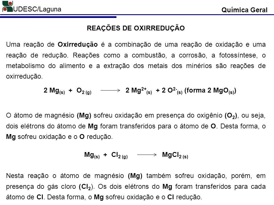 REAÇÕES DE OXIRREDUÇÃO Uma reação de Oxirredução é a combinação de uma reação de oxidação e uma reação de redução. Reações como a combustão, a corrosã