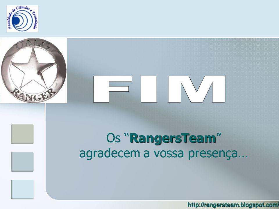 RangersTeam Os RangersTeam agradecem a vossa presença… http://rangersteam.blogspot.com/