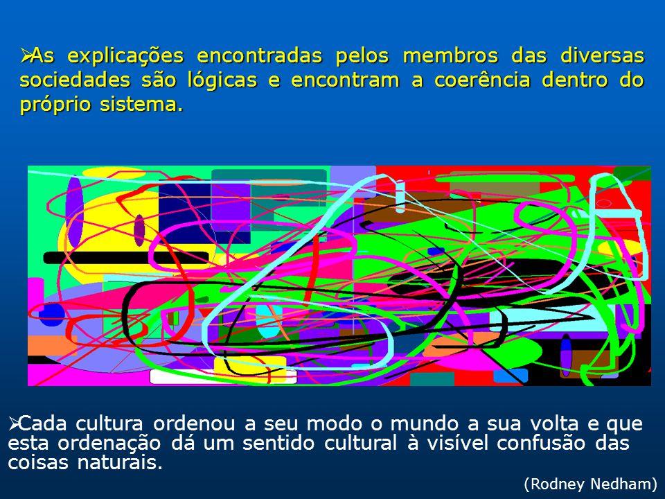 As explicações encontradas pelos membros das diversas sociedades são lógicas e encontram a coerência dentro do próprio sistema. As explicações encontr