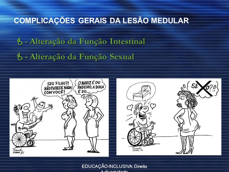 EDUCAÇÃO INCLUSIVA: Direito à diversidade COMPLICAÇÕES GERAIS DA LESÃO MEDULAR - Alteração da Função Intestinal - Alteração da Função Intestinal - Alt