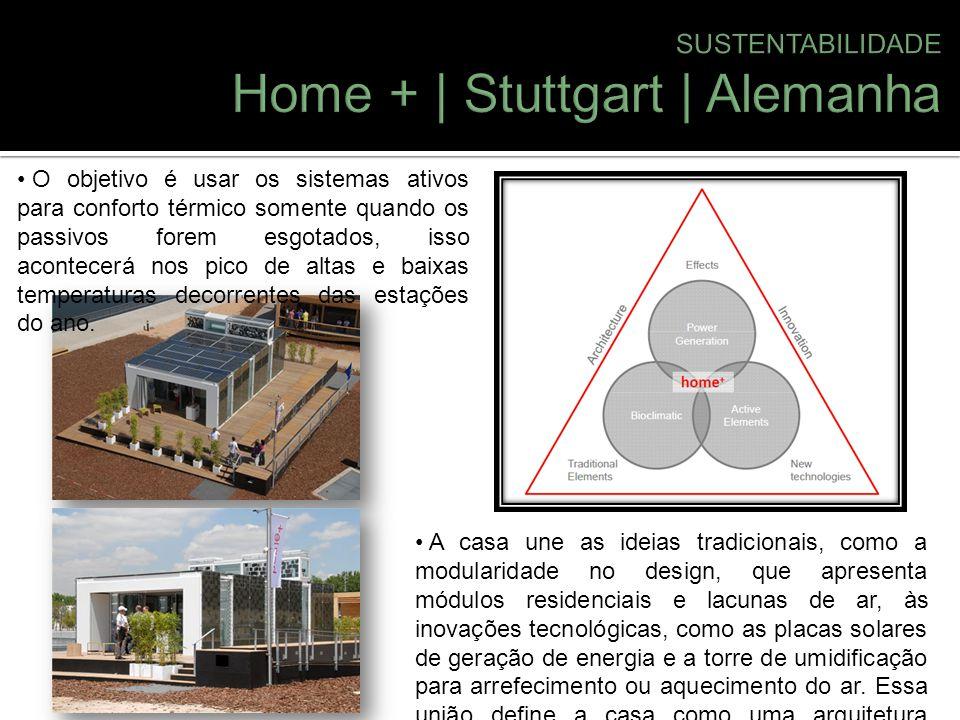 A casa une as ideias tradicionais, como a modularidade no design, que apresenta módulos residenciais e lacunas de ar, às inovações tecnológicas, como