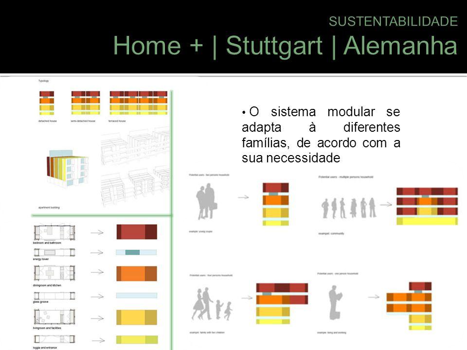O sistema modular se adapta à diferentes famílias, de acordo com a sua necessidade.