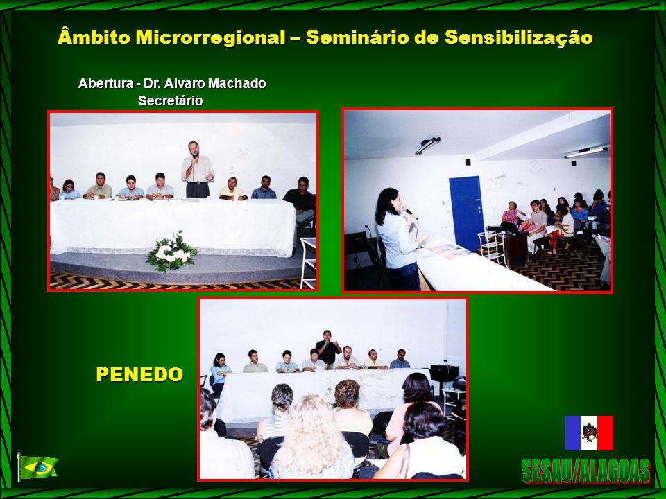 Âmbito Microrregional – Seminário de Sensibilização Abertura - Dr. Alvaro Machado SecretárioPENEDO