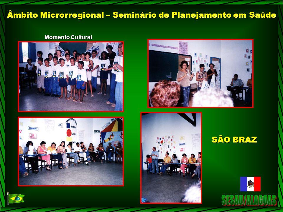 Âmbito Microrregional – Seminário de Planejamento em Saúde Momento Cultural SÃO BRAZ