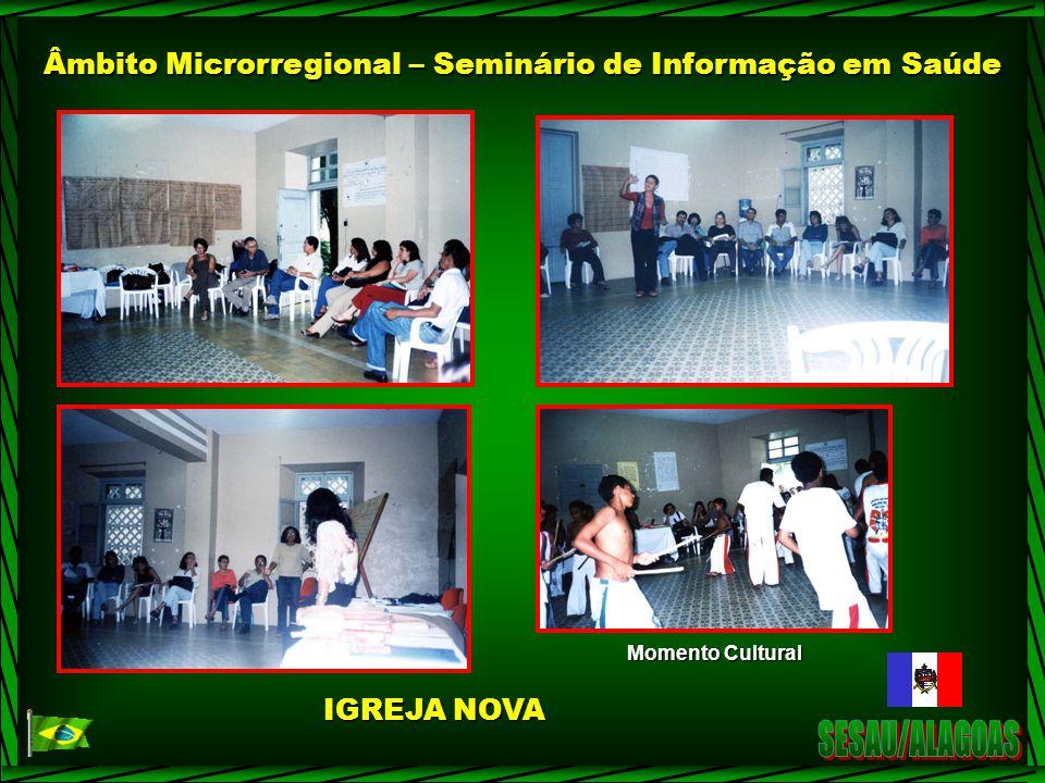 Âmbito Microrregional – Seminário de Informação em Saúde Momento Cultural IGREJA NOVA
