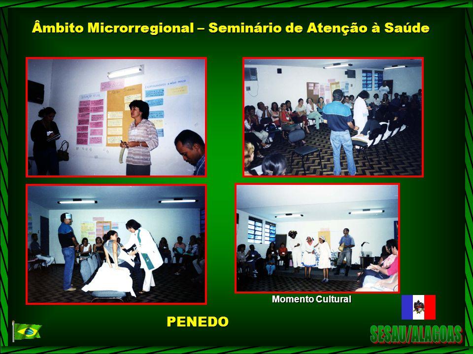 Âmbito Microrregional – Seminário de Atenção à Saúde Momento Cultural PENEDO