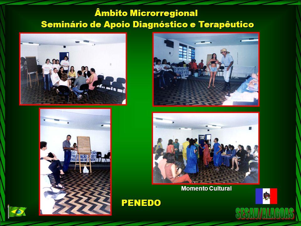 Âmbito Microrregional Seminário de Apoio Diagnóstico e Terapêutico Momento Cultural PENEDO