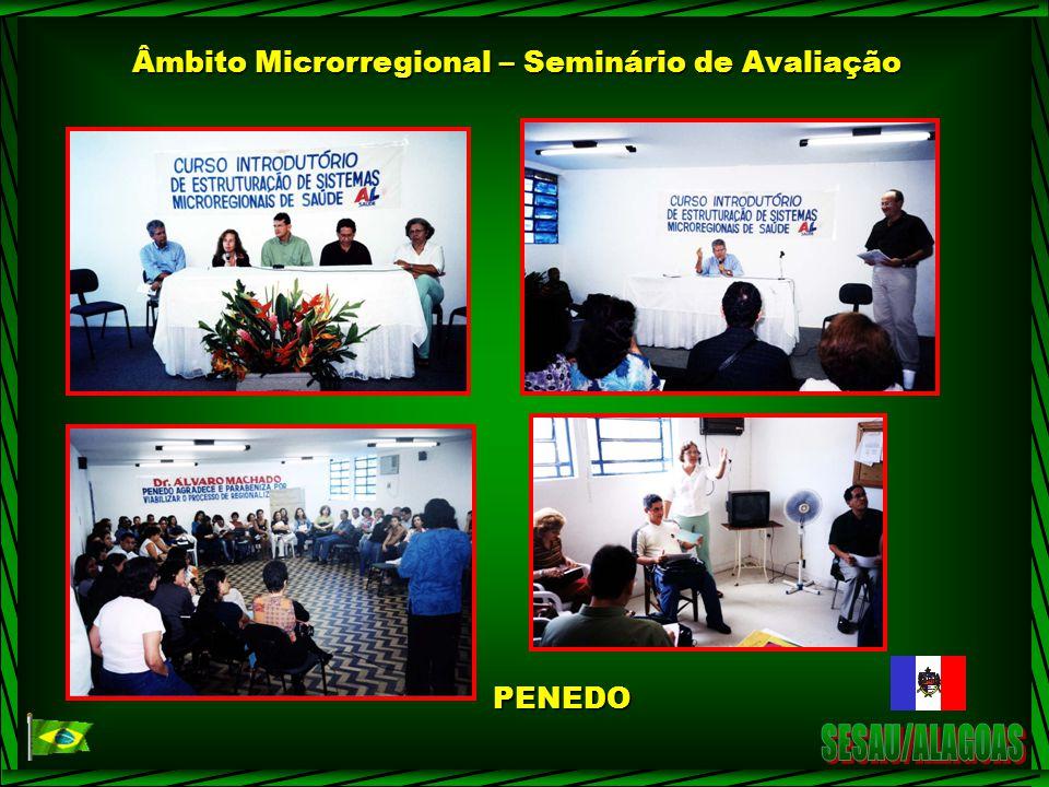 Âmbito Microrregional – Seminário de Avaliação PENEDO