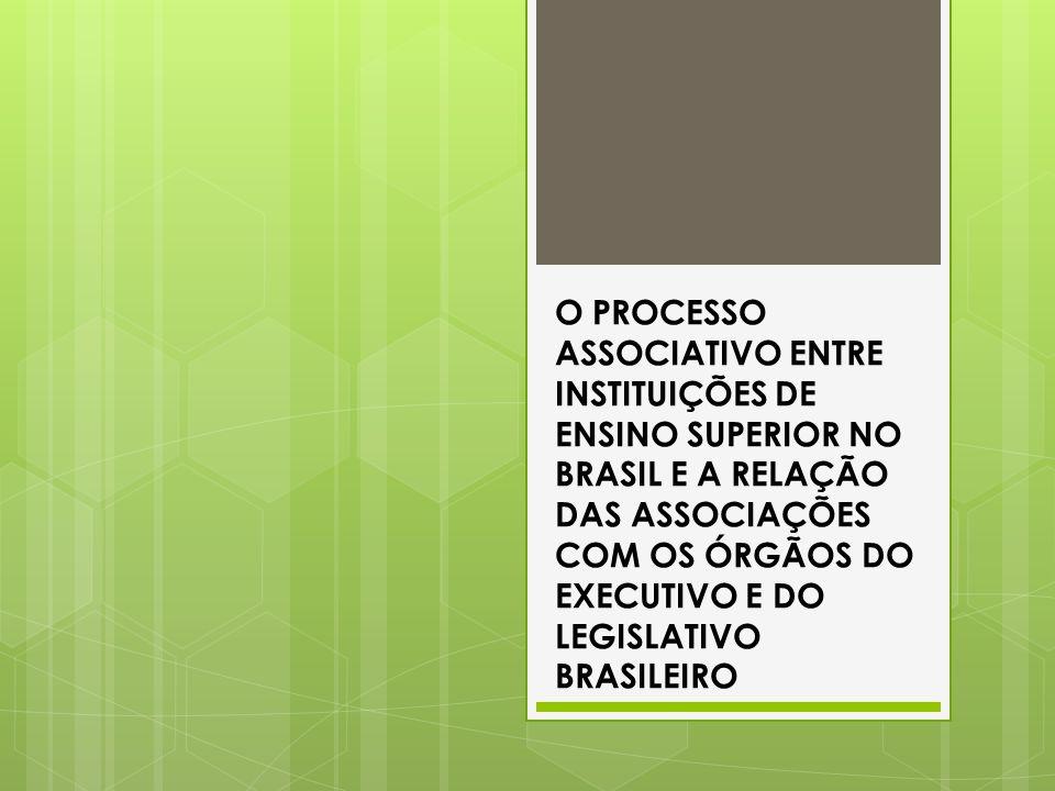 O PROCESSO ASSOCIATIVO ENTRE INSTITUIÇÕES DE ENSINO SUPERIOR NO BRASIL E A RELAÇÃO DAS ASSOCIAÇÕES COM OS ÓRGÃOS DO EXECUTIVO E DO LEGISLATIVO BRASILE